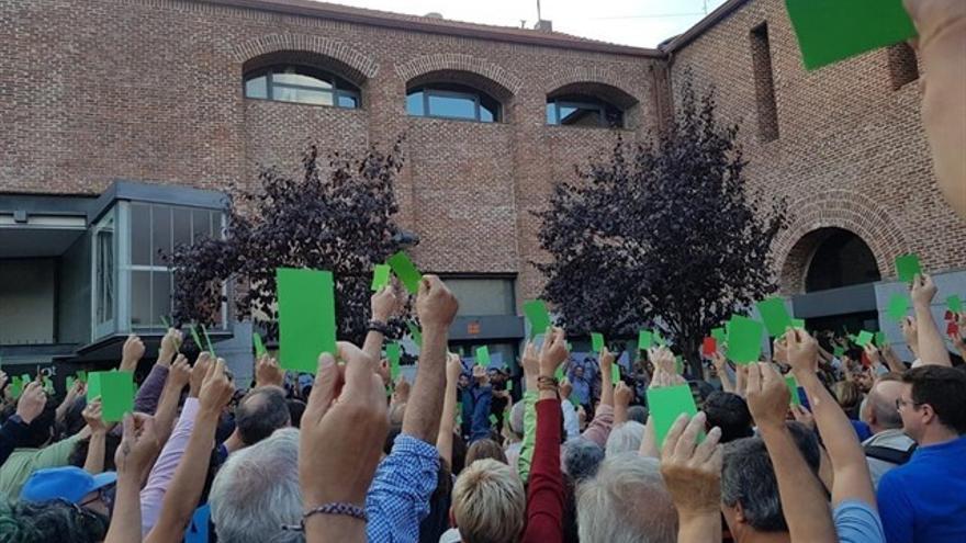 Momento en el que las bases han votado a favor de que Más Madrid concurra en las generales.