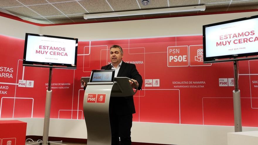 """Cerdán (PSN) critica que """"la derecha hace de Navarra una máquina de titulares para lanzar mentiras"""""""