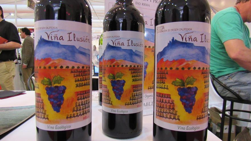Vinos orgánicos expuestos en Castilla-La Mancha