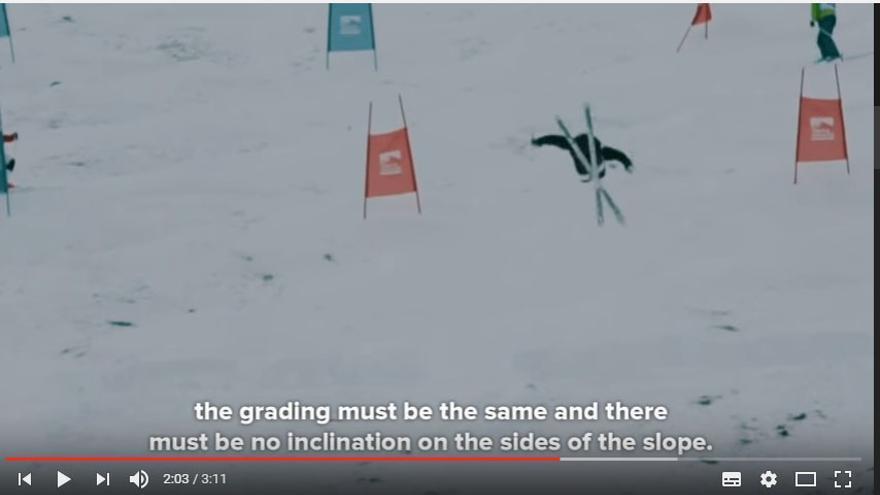 La modalidad de baches (mogul) en el Mundial Sierra nevada 2017.