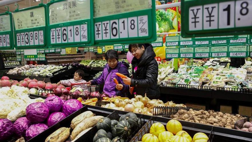 La inflación china sube tres décimas en octubre, hasta el 1,9 % interanual