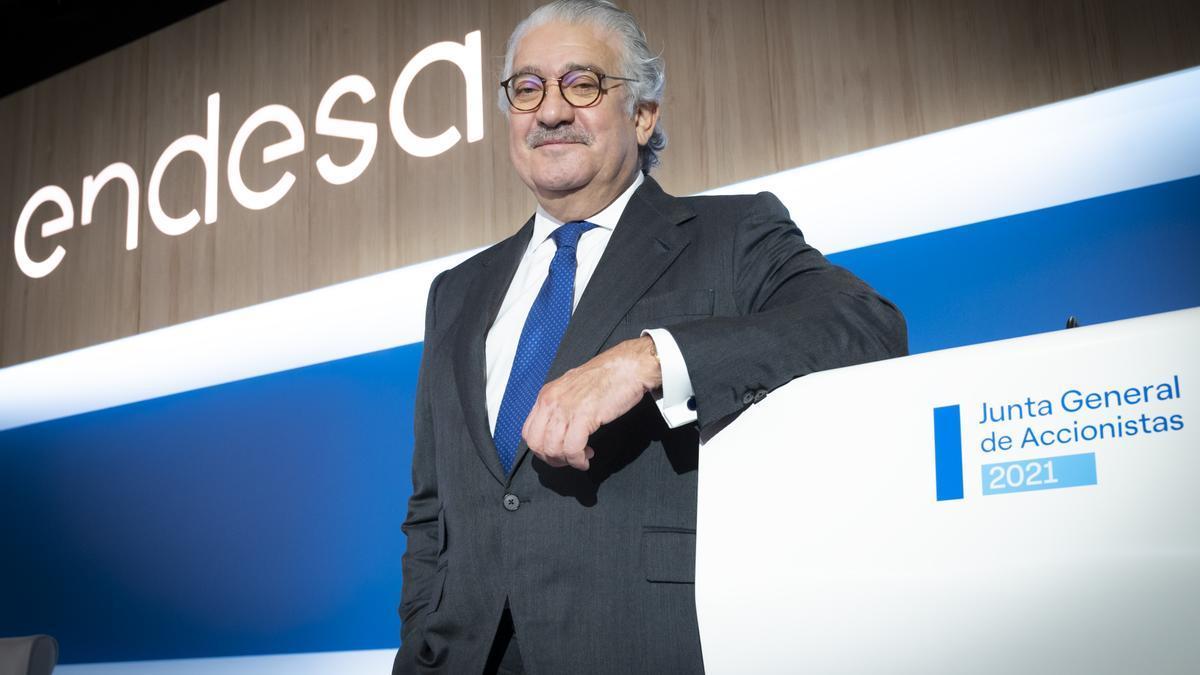 José Bogas, consejero delegado de Endesa, en la junta de accionistas de 2021.