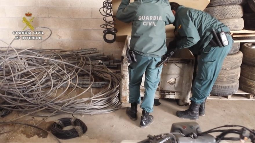 Detenidos en Cantabria y Navarra 28 miembros de una organización dedicada al robo de cobre
