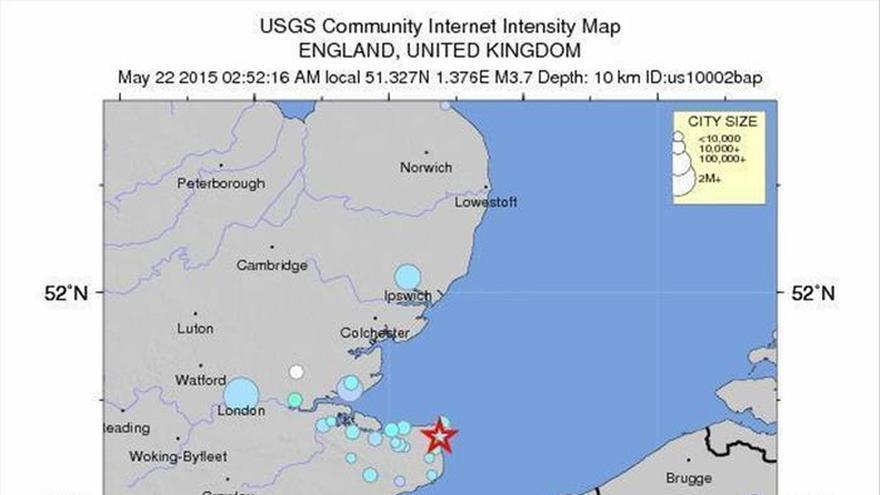 Un terremoto de magnitud 4,2 sacude el sureste de Inglaterra sin daños