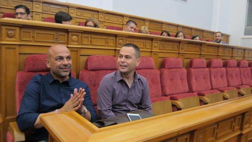 Los dos diputados de Podemos en el Parlamento regional