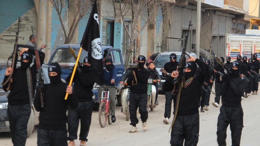 Miembros del ISIS en Siria, en una imagen de archivo.