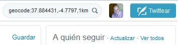 Geolocalización con Twitter