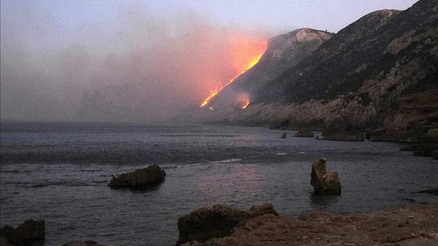 Dénia pedirá la declaración de zona catastrófica tras el incendio del parque natural del Montgó