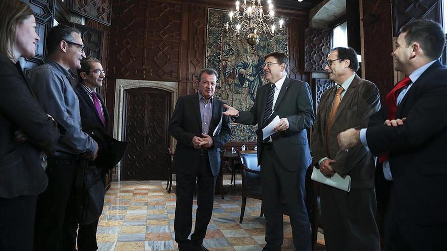 El president Ximo Puig se ha reunido con el conseller de Hacienda, Vicent Soler