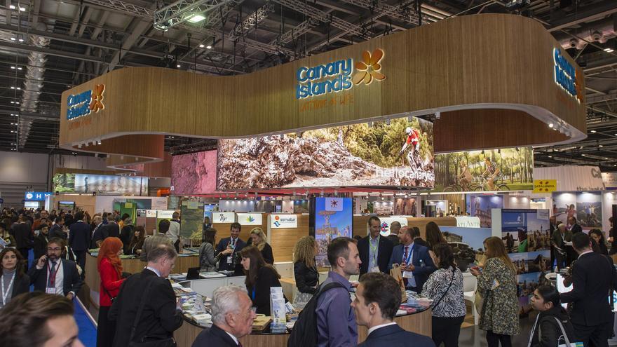 Pabellón de Canarias en la World Travel Market de Londres