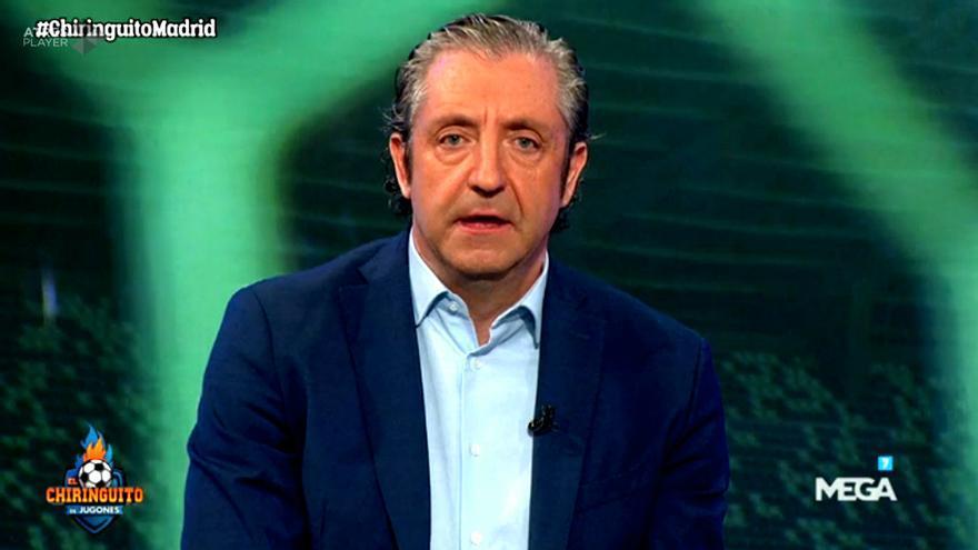 Josep Pedrerol, antes de abandonar el plató de 'El Chiringuito'