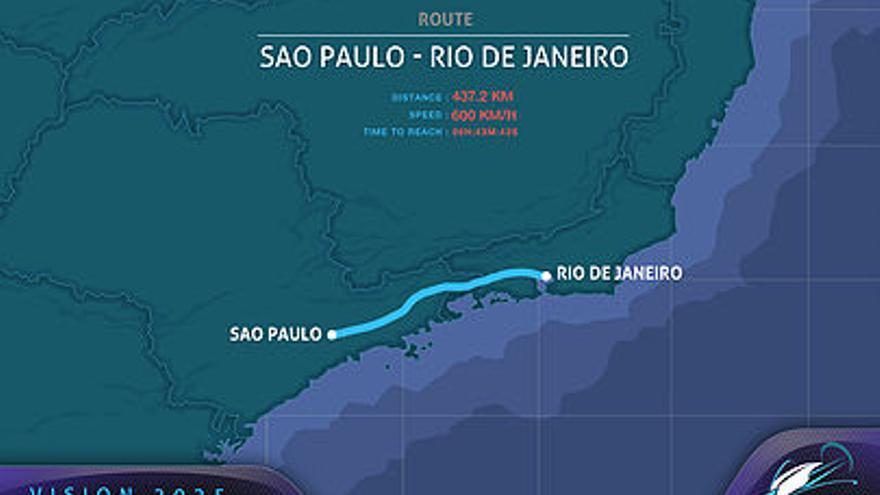 Una de las conexiones entre Río de Janeiro y São Paulo que planean desde la 'startup' francesa