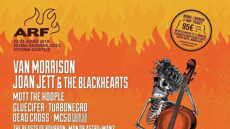 Van Morrison será cabeza de cartel del Azkena Rock Festival