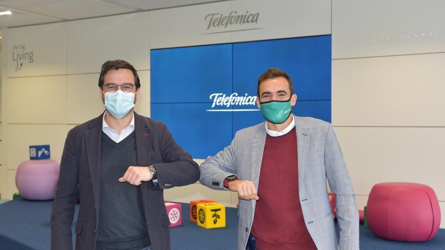 Gonzalo Martin-Villa, director global de la unidad de IoT y Big Data en Telefónica Tech, y Darío Cesena Forcada, consejero delegado de Geprom
