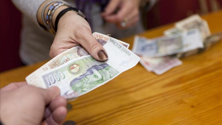 Los españoles conservan aún sin canjear 1.677 millones de euros en pesetas