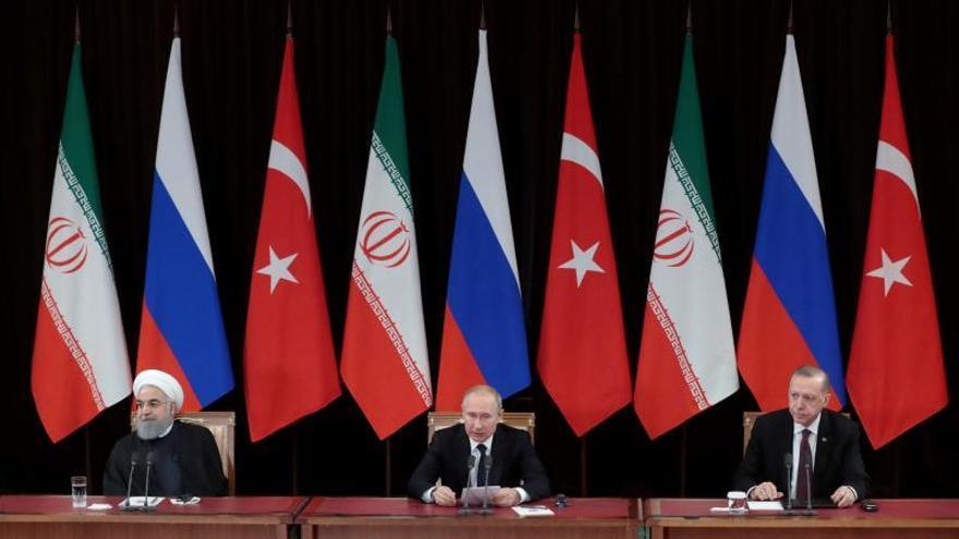 Cumbre de Erdogan, Putin y Rohaní sobre la guerra civil en Siria