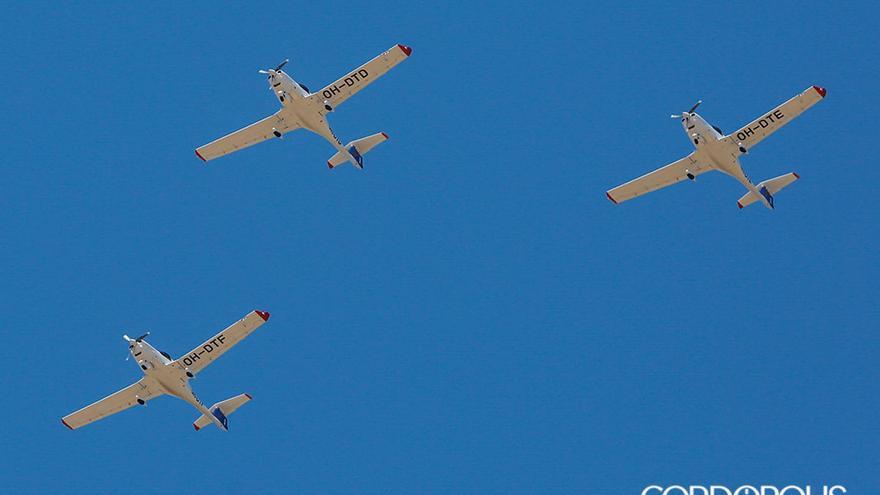 Los aviones de la Escuela Finlandesa de Pilotos Patria aterrizando en Córdoba |ALEX GALLEGOS