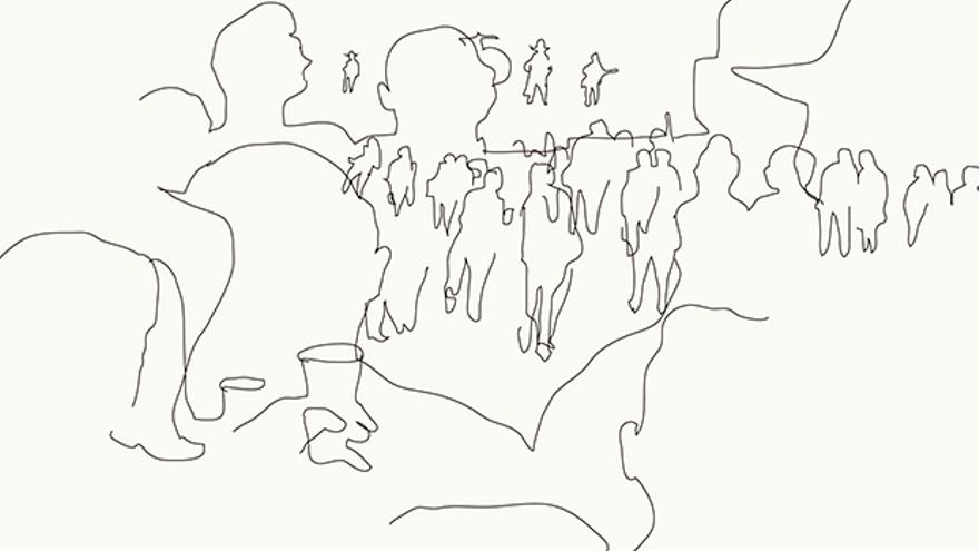 El concierto de anoche de Bob Dylan en Córdoba. Ilustración de Miguel Galadí