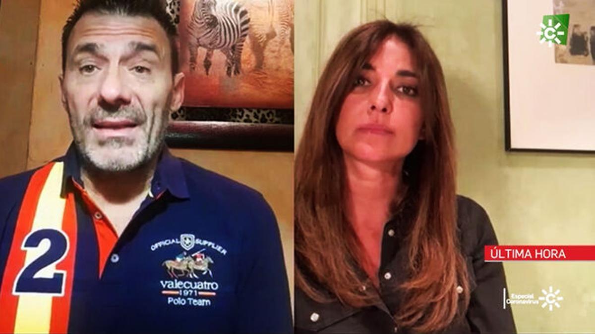 Alfredo Perdiguero es entrevistado por Mariló Montero en los informativos de Canal Sur