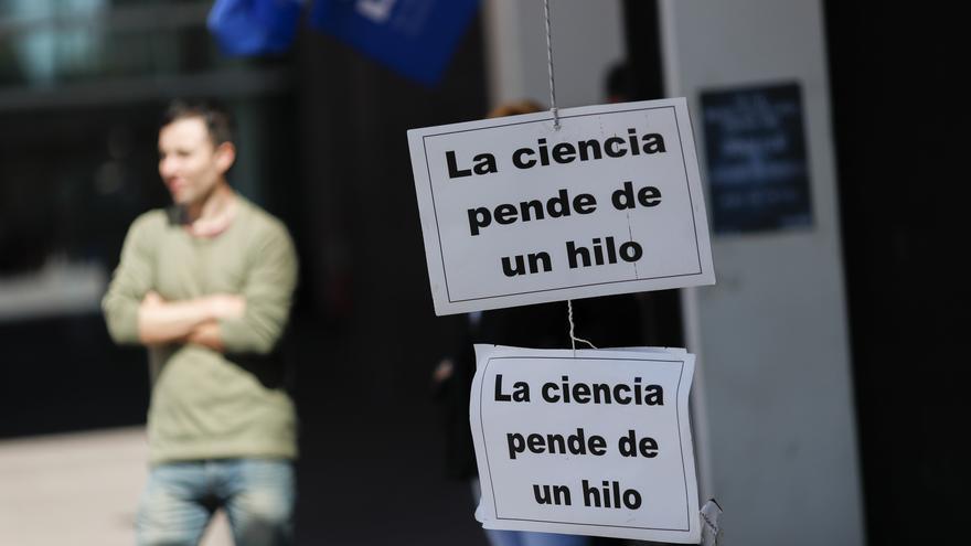 Protesta contra la precariedad de los científicos. EFE/David Fernández/Archivo