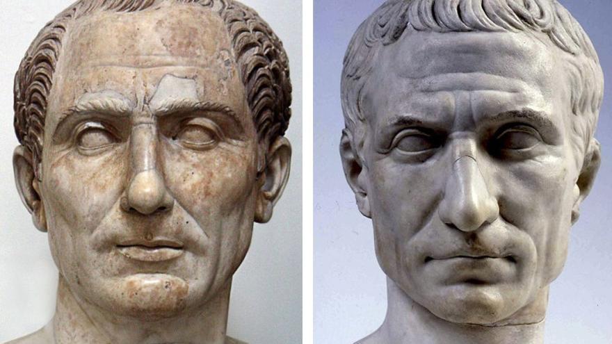 Bustos de Julio César realizados en Mármol. (CA).