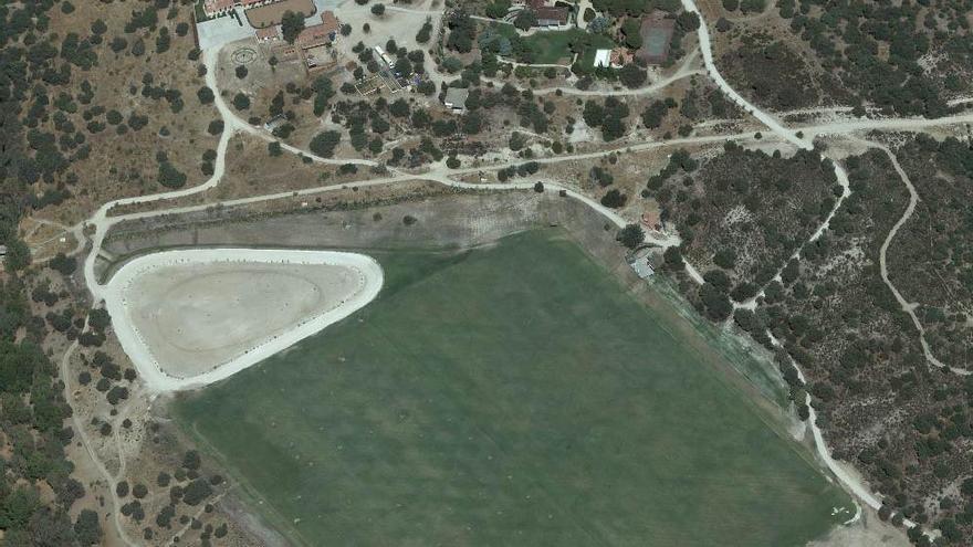 El campo de polo en La Montana, el 16 de septiembre, según el visor de la Comunidad de Madrid.