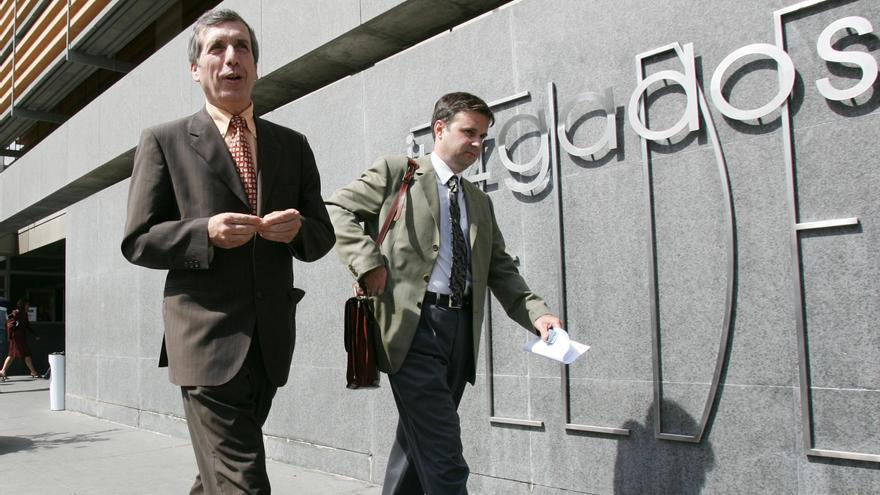 Guillermo Reyes en el Juzgado de Telde, en una imagen de archivo.