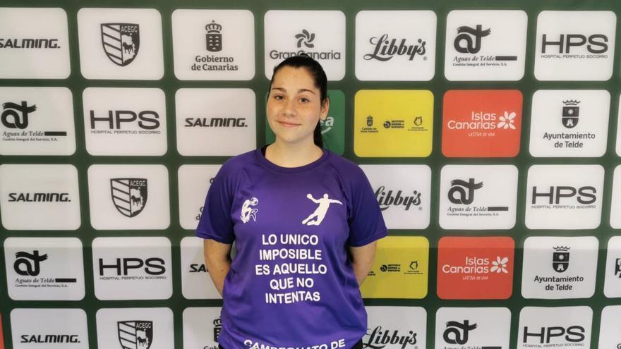 Andrea Suárez, jugadora de las categorías inferiores del Rocasa Gran Canaria.