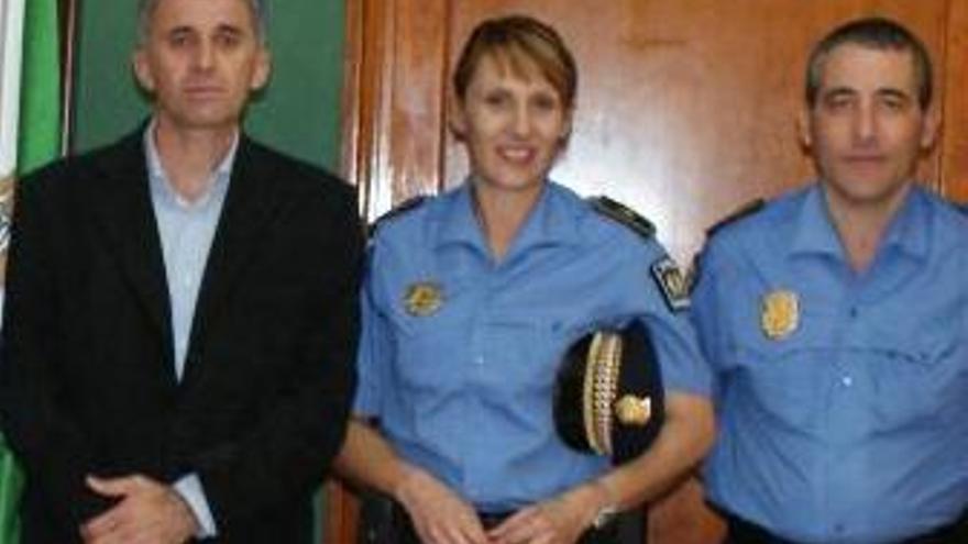 Sandra Ramos se incorporó a la Policía Local de Valsequillo hace pocos días. (ACFI PRESS)