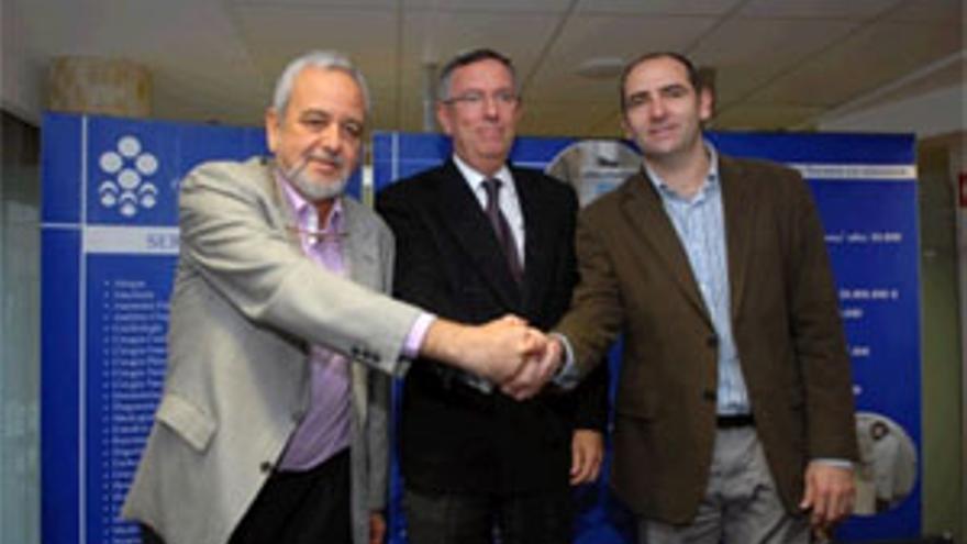 Jorge Petit, Agustín Medina e Himar Ojeda. (ACFI PRESS)