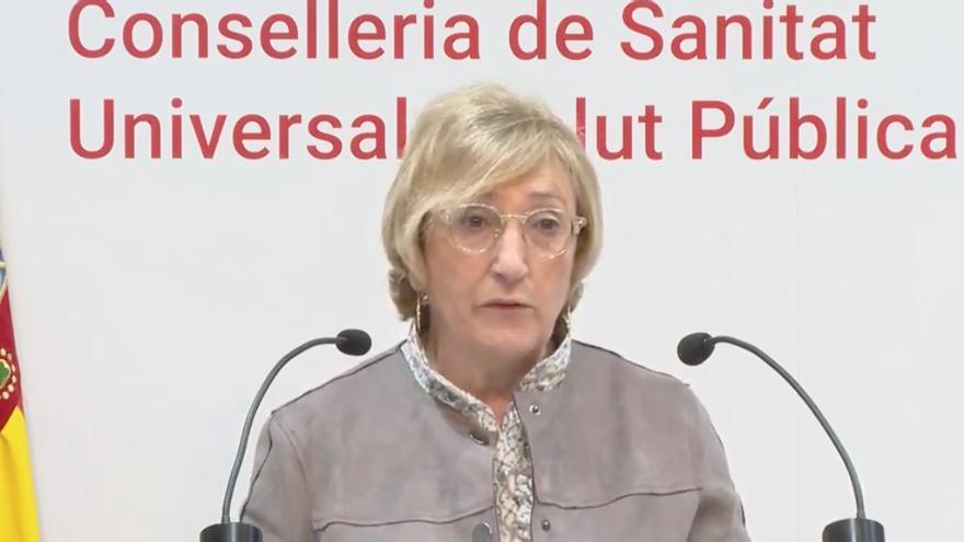 La consellera de Sanidad, Ana Barceló, durante la rueda de prensa.