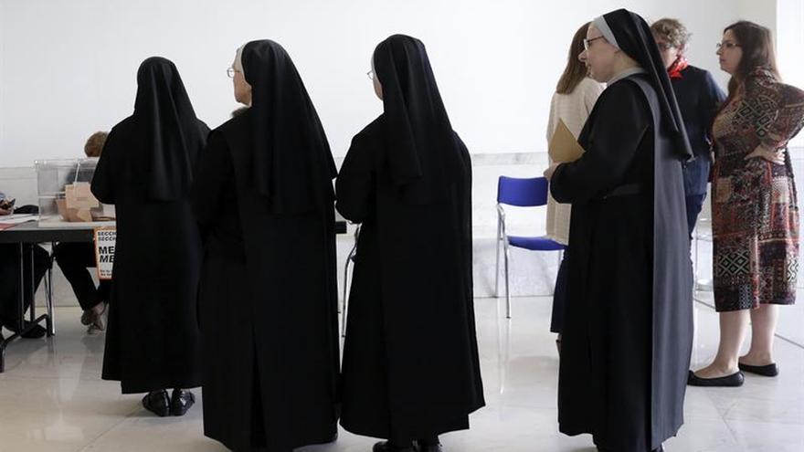 Las religiosas, en declive