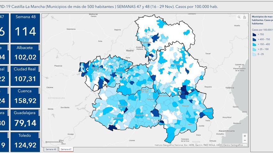 """Castilla-La Mancha, cerca de salir del """"riesgo extremo"""" en la transmisión de contagios de COVID-19"""