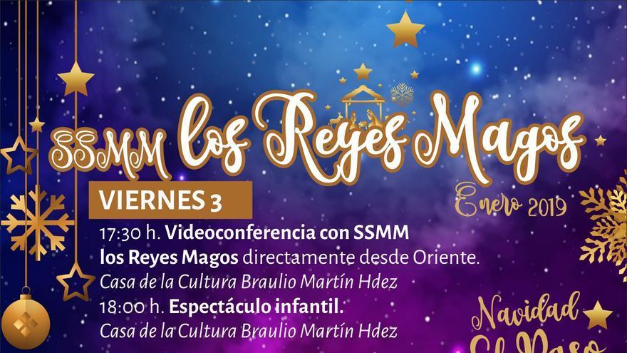 Programa de actos de los Reyes Magos en El Paso.