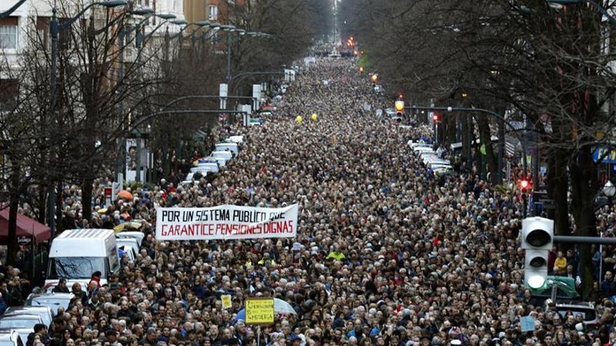 La Coordinadora cifra en más de un millón las personas movilizadas por pensiones