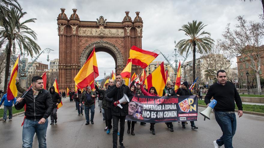 Concentración de ultras en Barcelona