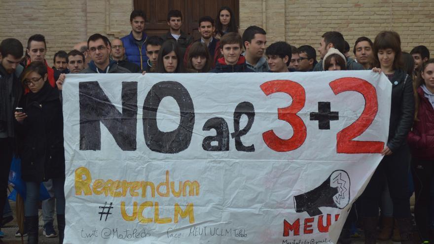 Manifestación contra el plan de estudios universitario 3+2, Toledo / Foto: Javier Robla