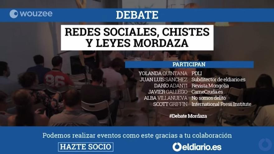 Debate sobre redes sociales, chistes y leyes mordaza