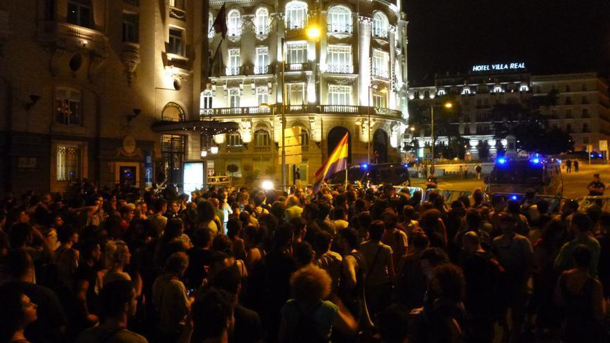 Un momento de la protesta contra la entrada en vigor de la 'Ley Mordaza' / MB