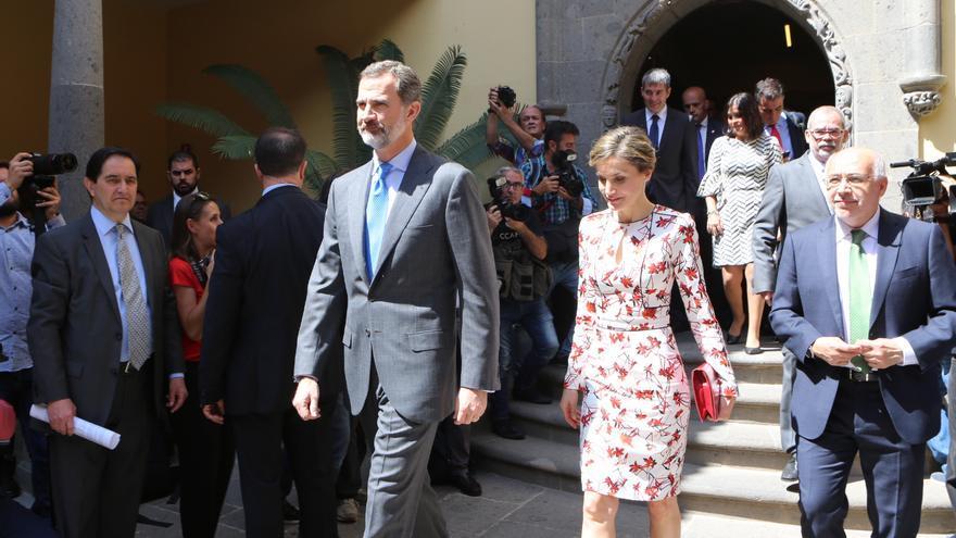 Visita de los reyes de España a la Casa Colón de Las Palmas de Gran Canaria