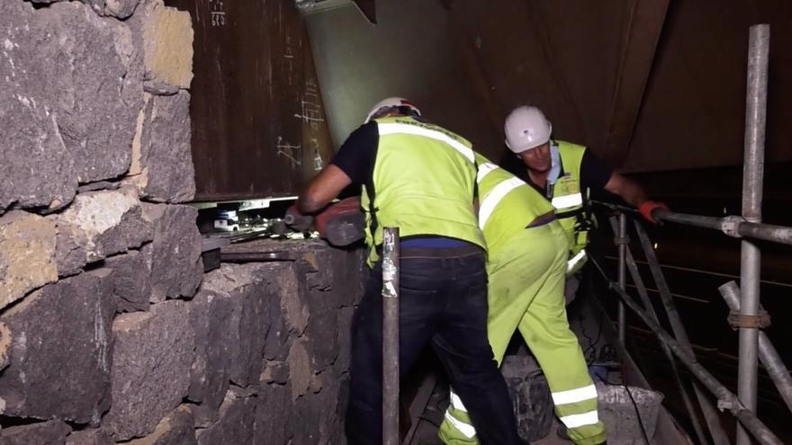 El Cabildo refuerza el puente de enlace de la TF-5 con La Orotava tras detectarse desperfectos