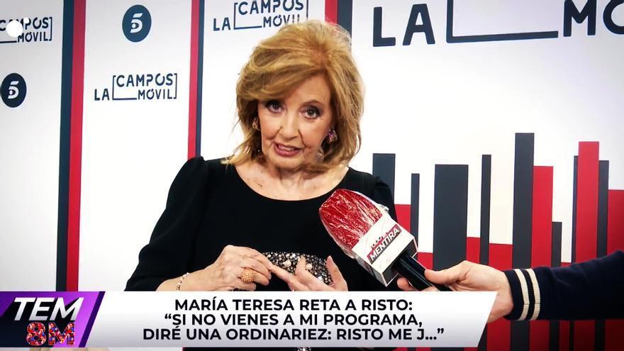 María Teresa Campos invita a Risto a su nuevo programa en Telecinco