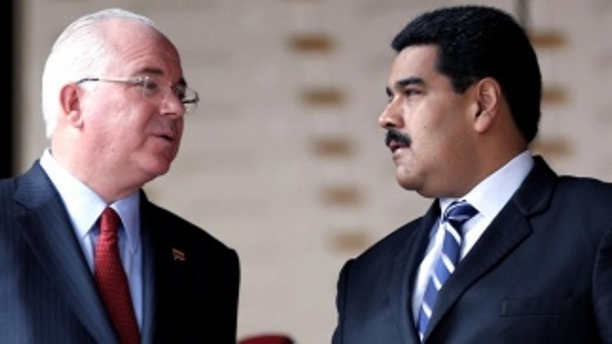 Antes aliados, desde 2017 perseguido y perseguidor: Rafael Ramírez y Nicolás Maduro.