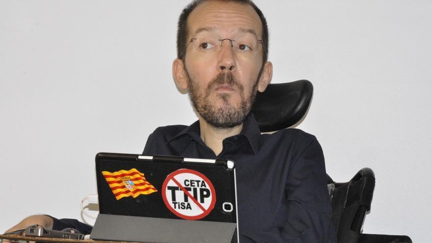 """Echenique cree que el PSOE está """"descafeinando"""" propuestas de Podemos para """"venderse a un precio muy bajito"""" a Rajoy"""