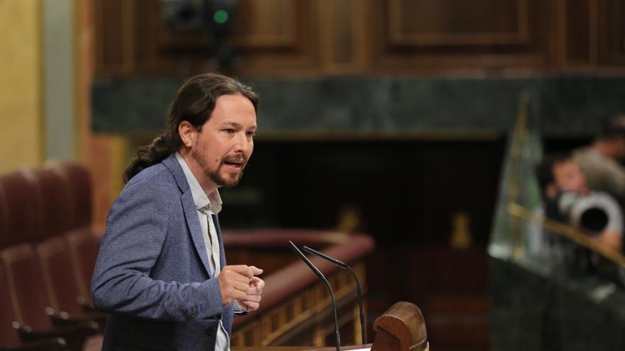 """Pablo Iglesias rechaza """"equidistancias"""" y responsabiliza al Gobierno del conflicto catalán: """"El PSOE se equivoca"""""""