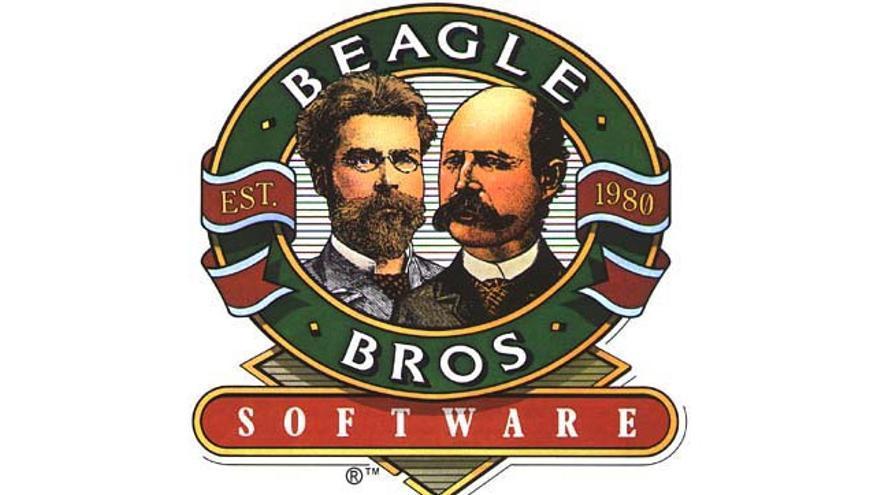 El logotipo de Beagle Bros, una compañía de 'software' a la vanguardia