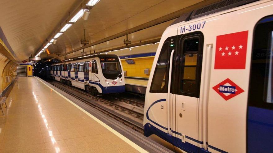 Dos convoys de Metro de Madrid