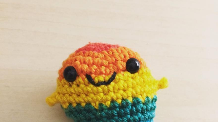 Versión crochet de Gaysper, creado por Laura Alonso.