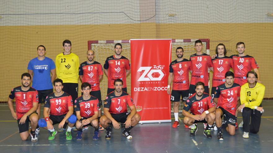 Jugadores del Cajasur Córdoba BM.
