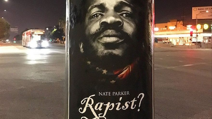 Póster sobre Nate Parker colgado en EEUU